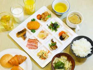 アパホテル直営レストランの朝食