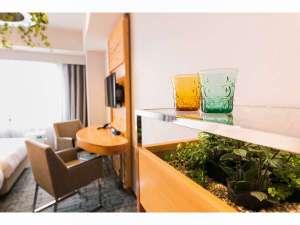 【客室】プレミアムグリーン プレミアムグリーンルームにはたくさんの緑があります。