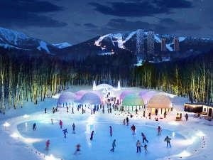 -20度にもなるトマムの自然が生み出す氷の世界「アイスヴィレッジ」。宿泊者は無料でお楽しみ頂けます。