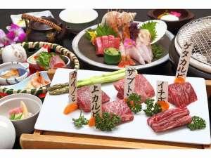 神内和牛あかの部位5種類を炭火で食べ比べできる会席膳