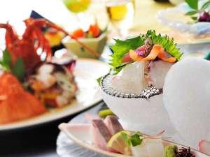 山海の幸と旬を取り入れた会席料理(イメージ)