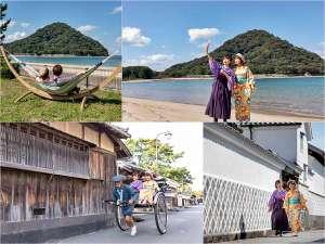 ■萩の女子旅♪着物や袴を着ての城下町散策や萩の絶景スポット菊ヶ浜のSNS撮りに女子トークも盛り上がる