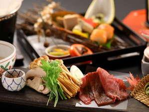 【2018秋の懐石 進肴】米沢牛すきしゃぶ/静岡産 マッシュルームと秋の新鮮野菜を添えて