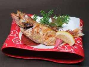 季節の和食懐石料理例:のど黒チョイス(塩焼き)