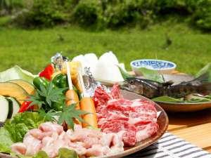 夏の人気NO.1!お肉に海鮮のBBQプラン♪緑豊かな自然の中で食べる外ご飯は最高に美味しい~