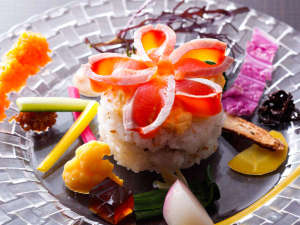 淡路島サクラマスと地野菜の小さな創作ちらし寿司(お料理イメージ)