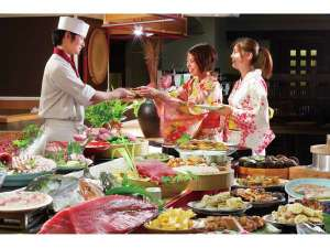 出来立ての料理を目いっぱい楽しんでお召し上がり下さい