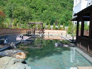 【希みの湯】自然に囲まれた露天風呂