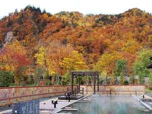 【希みの湯】大露天風呂~秋の露天風呂風景