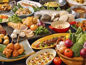 【夕食バイキング】北の大地と海の恵みで育った食材がいっぱい!