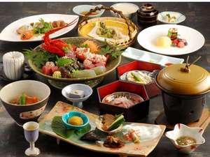 地の物や旬の物を取り入れた和食膳(一例)