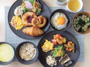 無料健康朝食♪バイキング形式の朝食です
