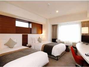 DXツインルーム一例【26㎡】親子ベッドで3ベッド対応可能なお部屋