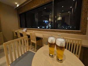 ◆湯上りラウンジSoLa 生ビール1杯無料♪