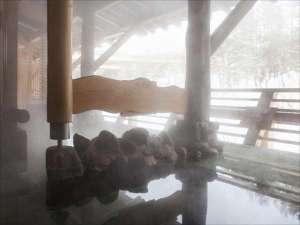 【森の露天】雪見の露天風呂※森の露天はラジウム鉱石の人工温泉となっております。