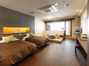 【露天風呂付客室・和洋室/54㎡】ベッド幅125cm×200cm、畳約4畳