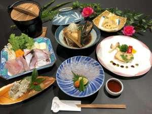■夕食:九絵(クエ)づくし