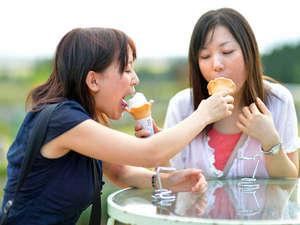 猪苗代ハーブ園名物「ラベンダーソフトクリーム」