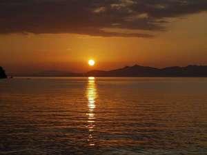 湯の児 海と夕やけ:写真