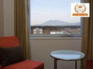 北側のお部屋からは筑波山や日光連山、南側には富士山が望めます。人気のお部屋なので早めのご予約を!!