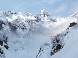 *一年中溶けることがない万年雪。