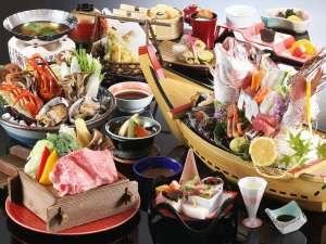 【贅沢味覚会席】舟盛り、贅沢鍋は2名様盛り