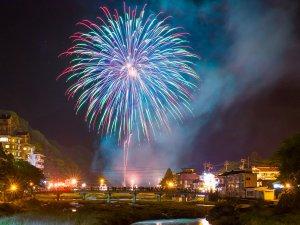7/30~8/5は、三朝温泉夏祭り!7/30は大花火、7/31~8/5は毎日中花火があがります!