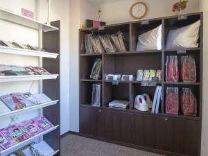 女性専用フロアのお客様のみが自由にご利用できる無料貸出品をご用意したスペースです。