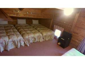 4人までお泊り出来る山小屋風のお部屋