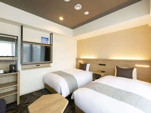 【客室】デラックスツイン/禁煙/26㎡/120 ㎝ 幅ベッド2台+EXベッド