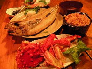 花咲蟹の創作料理と海鮮メニュー