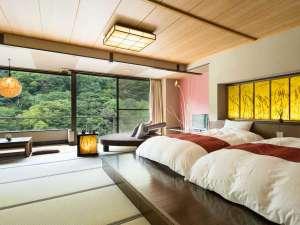 【ご当地部屋|野州麻紙の間】栃木県鹿沼地方で栽培されている「野州麻」の麻紙と和心地が融合。