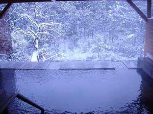 雪の露天風呂(なかなか見られません)