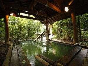 不思議な浮遊感を楽しめる「森の湯」女湯の立湯は深さ130センチ