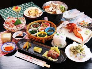 【グレードアップ】岩手名物『キンキ』の姿焼き付贅沢なコース。旬の天ぷらもこのコースの特権