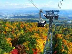 秋は紅葉が山を染めます。【富良野ロープウェー】