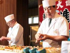 熟練の寿司職人が握る本格的なお寿司