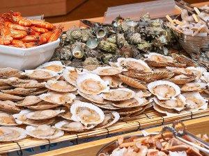 ◆新鮮な海の幸を楽しめる海鮮焼き。網焼きで卓上で焼いて楽しめます。