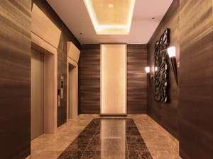 安全面を重視したエレベーターホール ご宿泊のお客様のみ利用できます。