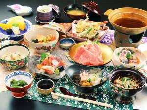※日によって異なる岩手県和牛を使ったお料理◇牛のしゃぶしゃぶ(夕食の一例になります)