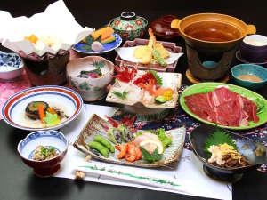日によって異なる岩手県和牛を使ったお料理◇牛のしゃぶしゃぶ(夕食の一例になります)