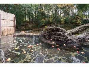 秋限定リンゴ風呂