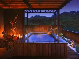 貸切露天風呂の特別室『天照の癒』。贅沢な癒し時間を。