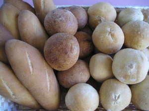 朝の手作りパン