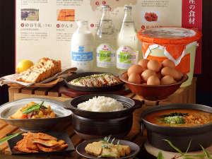 朝食に広島の美味しいものをご用意しております。