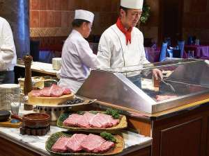 【王様のビュッフェ】北海道十勝産黒毛和牛ステーキ