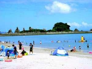 7/1~8/31まで海開き♪橋杭海水浴場は「快水浴場百選」に選定されています。ホテルからお車で約3分