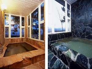 貸切風呂は2つ。「湯処恋風話」と「星あかりの湯」
