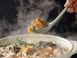 冬の味覚代表は、西のフグに東のアンコウ。炒り味噌仕立ての口福あんこう鍋は、プラン以外でも予約注文可♪