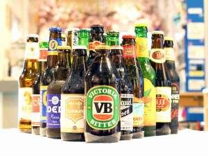 カフェでは異国の雰囲気を味わっていただくため世界各国のビールを販売しております。